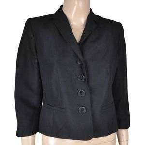 Ann Taylor Loft Black Button Blazer Jacket Coat